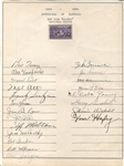 1939 New York Giants Signed Team Sheet by 21 w/ Mel Ott