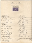 1939 Word Series Champions – New York Yankees signed Team Sheet w/ 25 Sigs