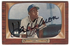 1955 Bowman Hank Aaron #179 Signed Baseball Card