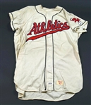 1956 Hal Smith Kansas City Athletics Game Worn Home Jersey