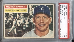 1956 Topps Mickey Mantle (Gray Back) #135 PSA 1 Triple Crown Season
