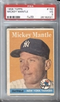 1958 Topps Mickey Mantle #150 PSA 3 VG