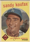 1959 Topps Sandy Koufax #163 Signed Baseball Card