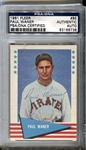 1961 Fleer Baseball Greats Paul Waner #85 Signed PSA/DNA