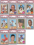 1968 Topps Baseball PSA Graded Lot of 11 w/ HOFers