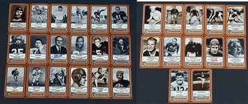 "1975 FLEER ""THE IMMORTAL ROLL"" LOT OF 30 AUTOGRAPHED FOOTBALL CARDS"