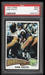 1975 Topps Football Dan Fouts ROOKIE RC #367 PSA 9 MINT