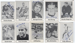 Lot of 10 Signed 1977 Touchdown Football Cards All HOFers - w/ Tuffy Leemans