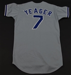 1980 Steve Yeager Game Worn Los Angeles Dodgers Road Jersey