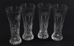 Set of 4 Pebble Beach Pro-Am Golf Tournament 2007 Waterford Crystal Pilsner Glasses – Mark Brooks Collection
