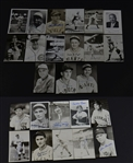 Group of 25 Deceased Baseball Hall of Fame Signed Postcard Photo Cards