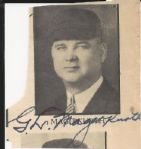 G.L. Magerkurth NL Umpire signed photo D. 1966