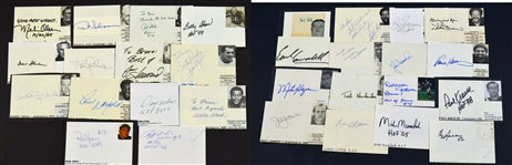 Lot of 30 Football HOF Autographs – Johnny Unitas – Bert Bell