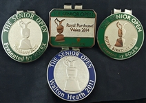 Lot of 4 Senior British Open Money Clips – Credentials 2011-2014 - – Mark Brooks Collection