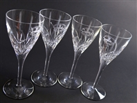 Set of 4 Pebble Beach Pro-Am Golf Tournament 2004 Waterford Crystal Wine Glasses – Mark Brooks Collection