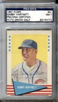 1961 Fleer Baseball Greats Gabby Hartnett #41 Signed PSA/DNA