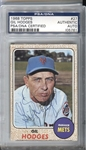 1968 Topps #27 Gil Hodges Signed PSA/DNA Encapsulated D. 1972