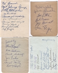 FOOTBALL Group of Six (6) signed album pages with 60+ signatures total