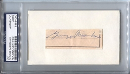 George Preston Marshall signed check cut Washington Redskins Football HOF
