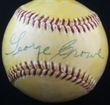 George Crowe Vintage 1950's Single Signed Baseball Negro Leagues Reds Cards NY Rens