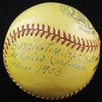 Sunny Jim Hackett Single Signed Baseball D. 1961 St. Louis Cardinals