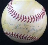 Vinegar Bend Mizell Single Signed NL Giles baseball Cardinals – 1960 Pirates