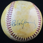 Babe Young Single Signed Baseball D.1983 – NY Giants – Reds – Cardinals