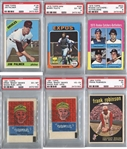 Lot of 6 PSA Graded Baseball Hall of Fame cards - 1959-75 w/ Palmer Rookie