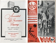 1963 Chicago Zephyrs vs. Syracuse Nationals 3-12-63 NBA basketball program 1 year team