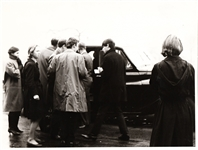 Beatles Paul McCartney At Airport original early 1960s photo