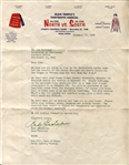 Andy Gustafson typed letter Signed College Football HOF D. 1979