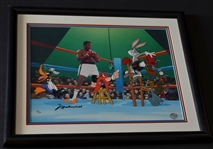 1997 Muhammad Ali Signed Boxing Warner Brothers Looney Tunes Animation Cell