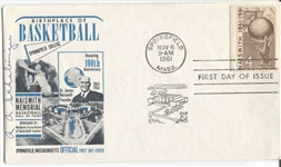 Arthur A. Schabinger Signed 1961 Naismith Basketball HOF FDC – D. 1972