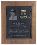 San Diego Padres Baseball Hall of Fame Award Presented to Dick Williams – Estate LOA