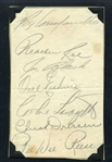 1952-53 Brooklyn Dodgers Signed Team Sheet w/ Roy Campanella HOF