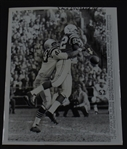 Raymond Berry vs. Abe Woodson original UPI photo 1960 Baltimore Colts vs San Francisco 49ers