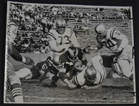 Rams FB Joe Marconi Tackled by Leo Nomellini Oversized Original 1960 TYPE I photo