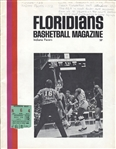 1971 Miami Floridans vs Indiana Pacers ABA basketball program with Ticket Stub