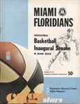 1968-69 Miami Floridians vs Kentucky Colonels ABA Basketball Program November 18, 1968 – Low Attendance