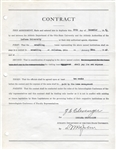 Lynn St. John signed Contract Rare Basketball HOF Ohio State D. 1950 w. Zora Clevenger College Football HOF
