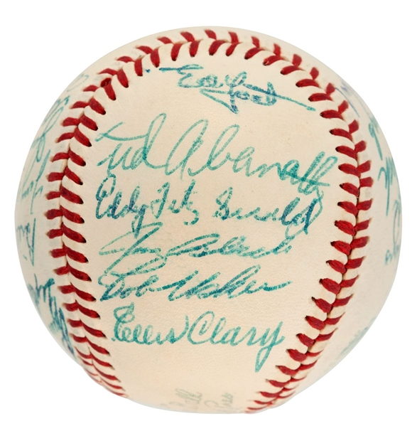 1957 Washington Senators Team Signed Baseball - 27 Autographs