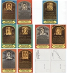 Group of 9 Autographed Dexter Press Baseball HOF postcards w/ Joe DiMaggio