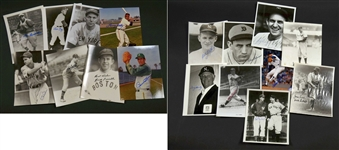 Baseball Hall of Fame Signed Photos – 17 Different D-H – w/ Hank Greenberg
