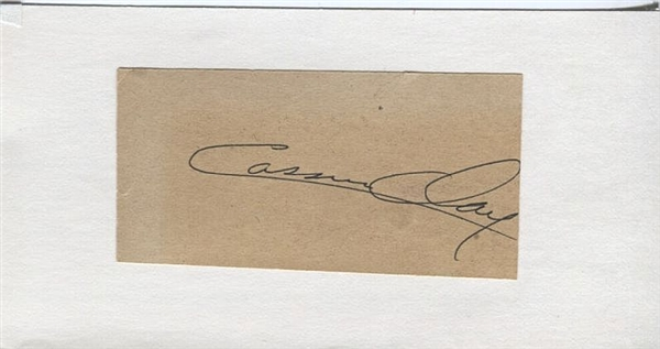Cassius Clay Circa 1964 Autograph Signature – The Greatest