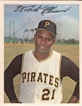 Roberto Clemente Signed 1967 Dexter Press Photo PSA/DNA