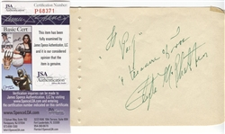 "Clyde McPhatter Founder of ""The Drifters"" Signed Album Page D. 1972 JSA"