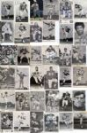 Collection of 36 Vintage Signed 1960s - 70s Postcard Sized NFL Football Photos