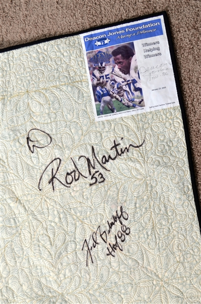 Football Hall of Fame Multi-Signed Quilt – Deacon Jones Estate