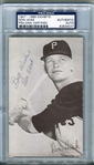Don Hoak 1947-66 Exhibit Card Autographed Signed PSA/DNA D. 1969