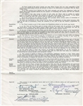 1956 Kansas City Athletics Elmer Valo Signed Baseball Contract w/ Harridge